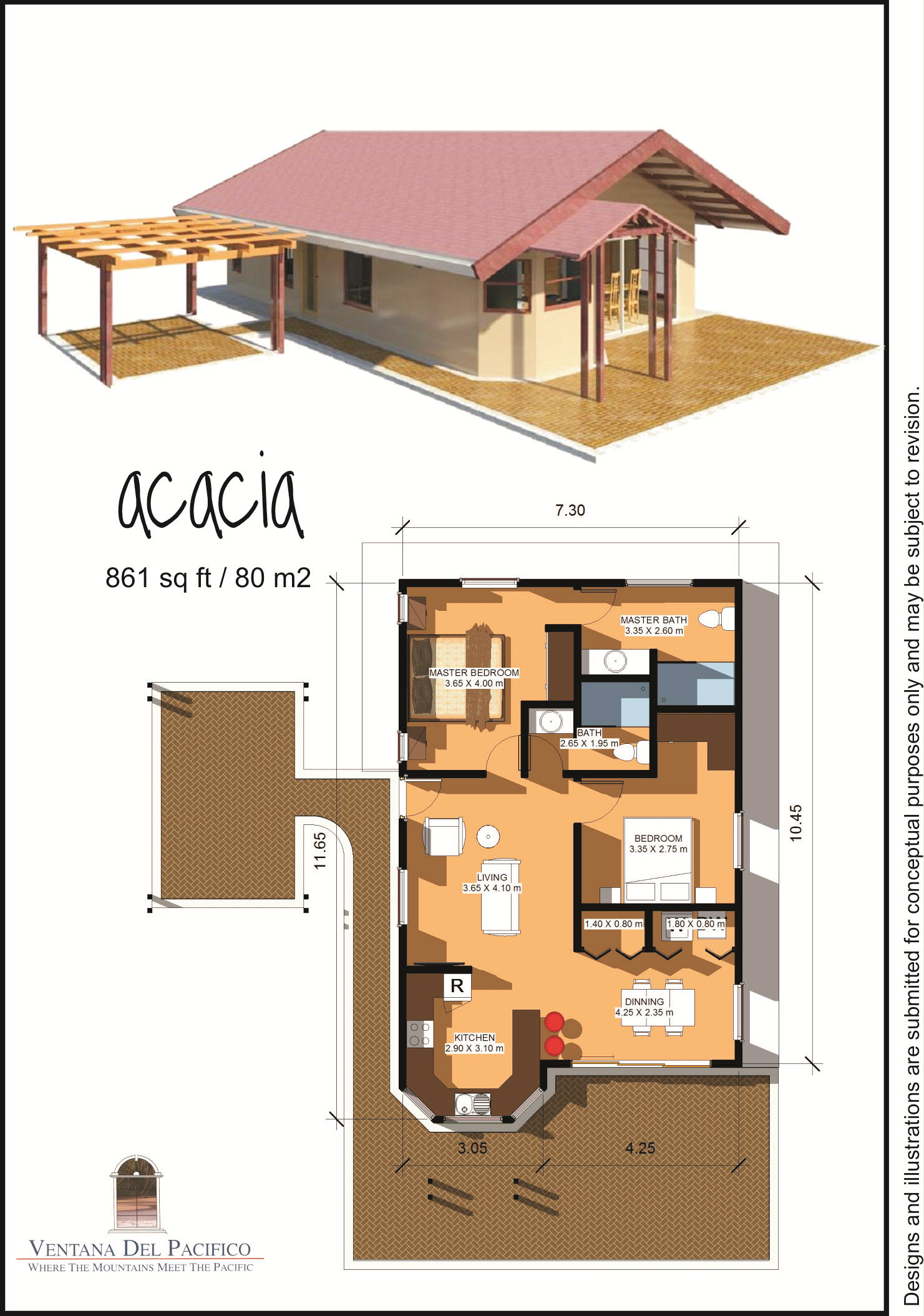 Home land packages for 80 square meter house design