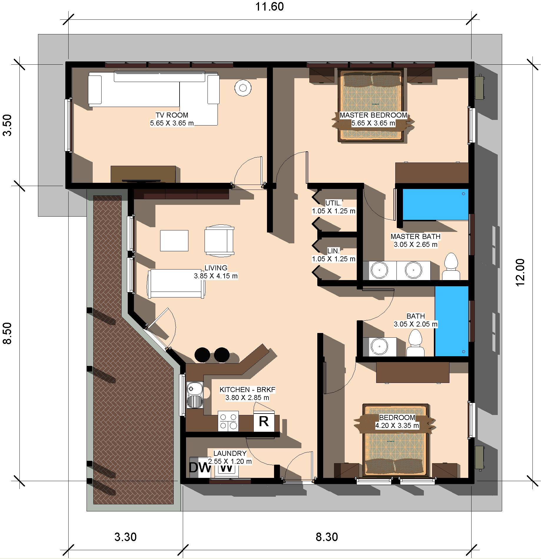 Home land packages for 8 sqm room design