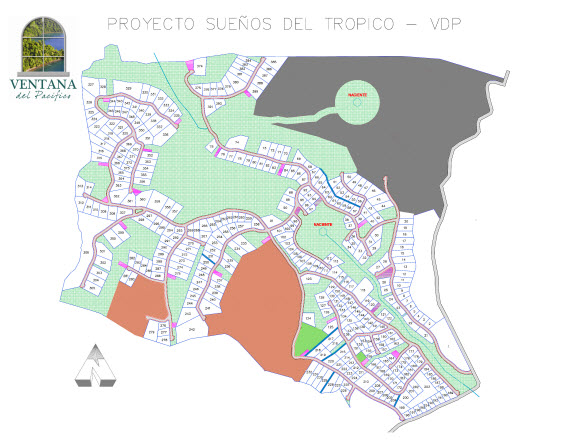 Suenos del Tropico Site Plan - Costa Rica Real Estate Properties